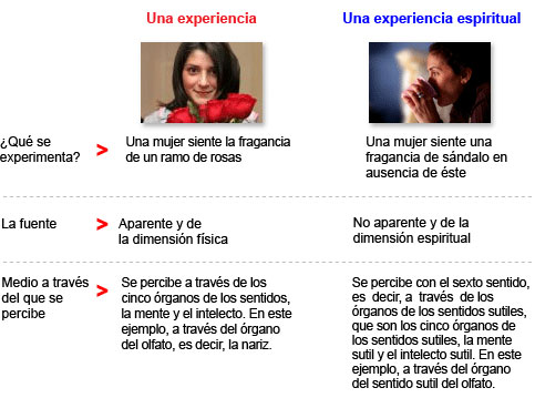 Sexto sentido  - Experiencia versus experiencia espiritual