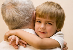 Hugging people - effects of hugging a child