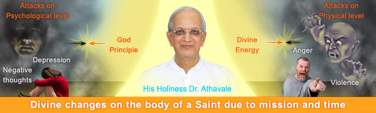 Divine changes on the body of a Saint due to mission and time