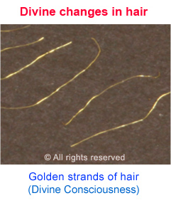 Golden hair due to Divine changes in the spiritually evolved