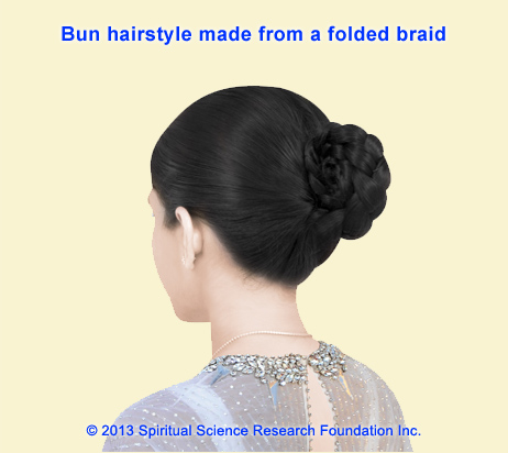 Khopa – Bun hairstyle made from a folded braid