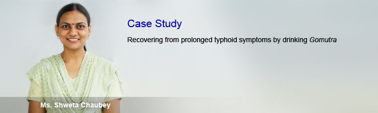 Recovery from typhoid symptoms