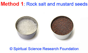 Rock salt and mustard seeds for evil eye removal