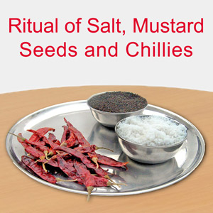 Evil eye - Ritual of salt, mustard seeds and chillies