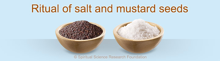 Ritual of salt and mustard seeds