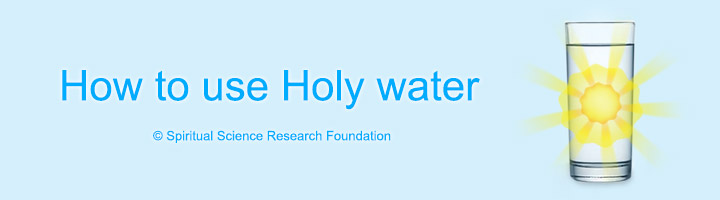 How to use Holy water