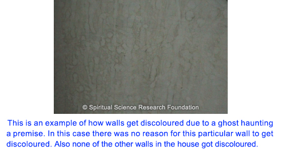 Discoloured walls due to ghost
