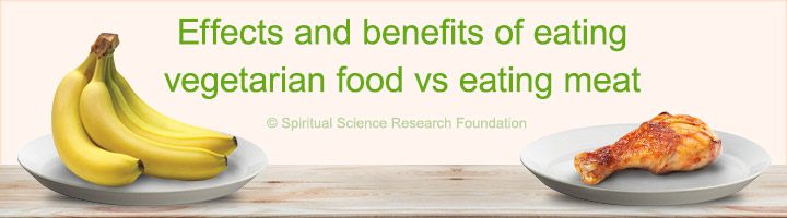Effects and benefits of eating vegetarian food vs eating meat