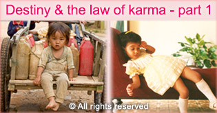 Destiny and the law of karma (afterlife)