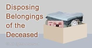 Disposing belongings