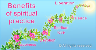 Benefits from spiritual practice