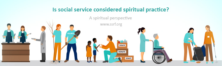 Is social service considered spiritual practice?