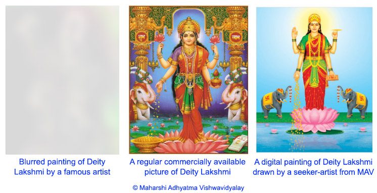 3 paintings of Deity Lakshmi