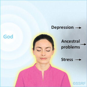 Spiritual healing can remove depression, stress and other problems