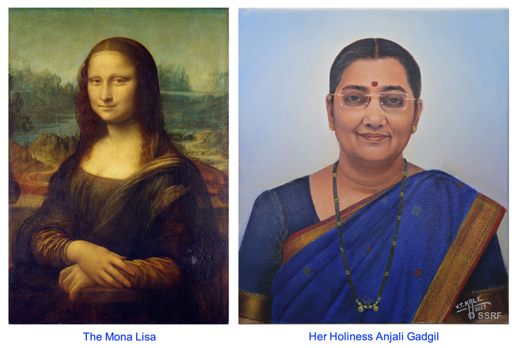 The Mona Lisa and Her Holiness Anjali Gadgil