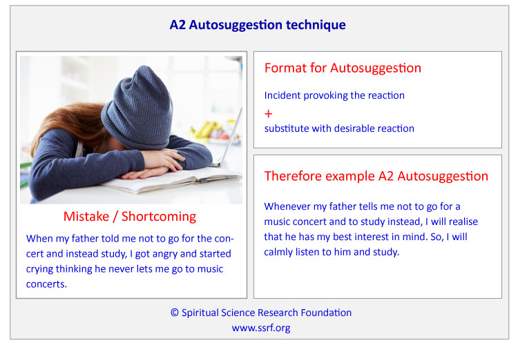 Example of an A2 Autosuggestion Technique