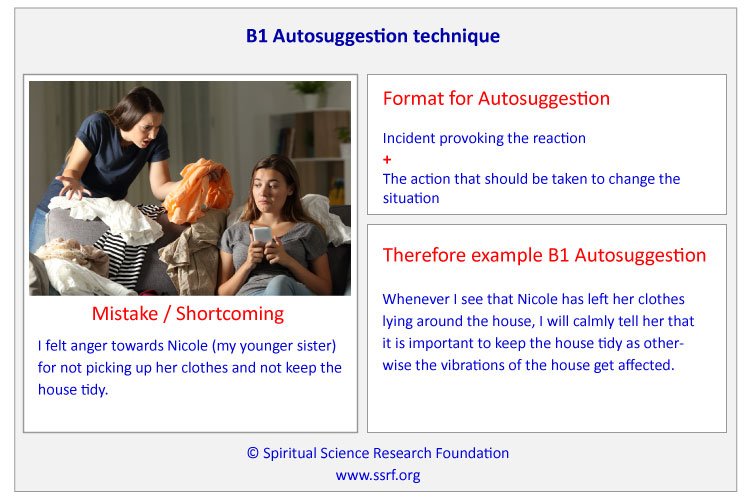 Example of an B1 Autosuggestion Technique