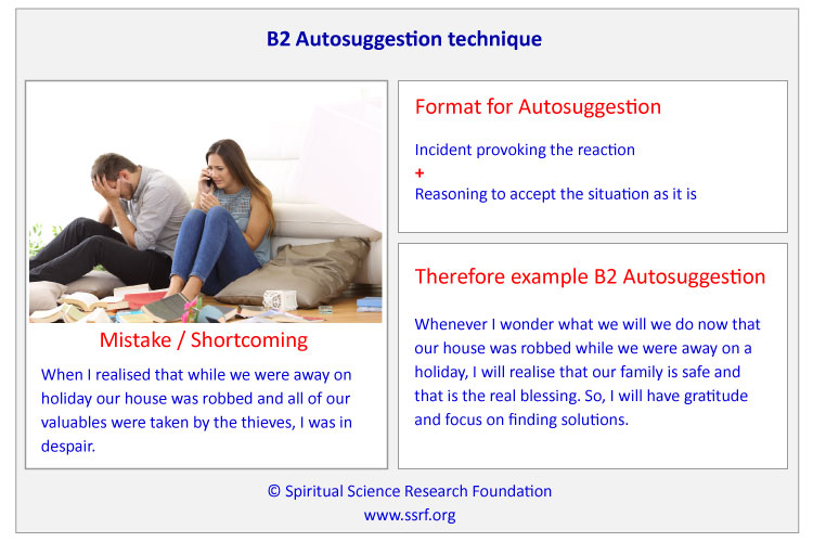 Example of a B2 Autosuggestion Technique