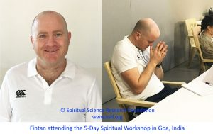 Fintan attending the 5-Day Spiritual Workshop in Goa, India