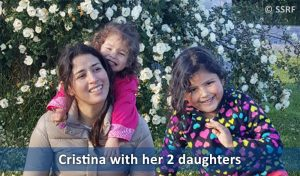 Cristina with her 2 daughter
