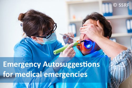 Emergency Autosuggestions when one is facing a medical emergency