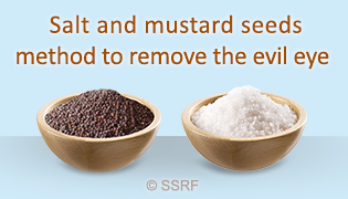 Salt and mustard seeds method to remove the evil eye