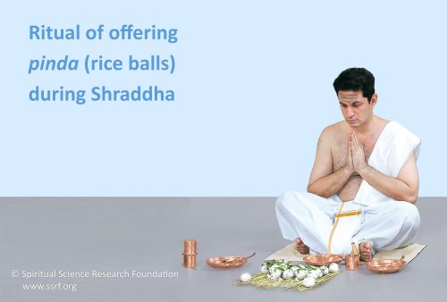 Offering of rice balls during shraddha