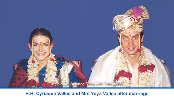 H.H. Cyriaque Vallee and Mrs Yoya Vallee after marriage