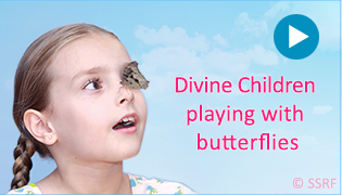 Divine Children playing with butterflies