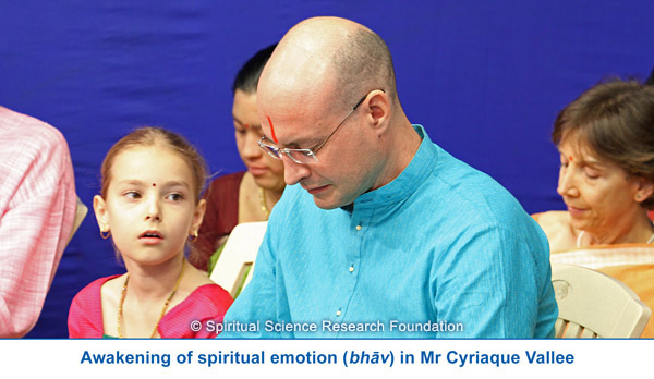 Awakening of spiritual emotion in Mr. Cyriaque Vallee