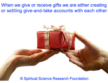 gift giving - give and take accounts