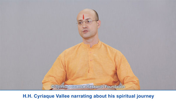 H.H. Cyriaque narrating about his spiritual journey
