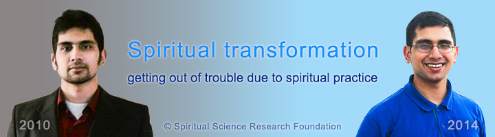 Spiritual transformation - getting out of trouble