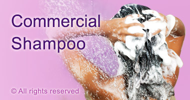 Commercial shampoo