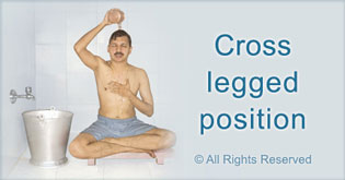 Cross legged position