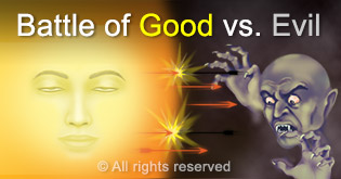 Battle of good vs evil