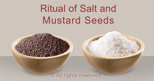 remove evil eye through ritual of salt and mustard seeds