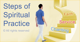 Steps of spiritual practice for awakening of psychic ability