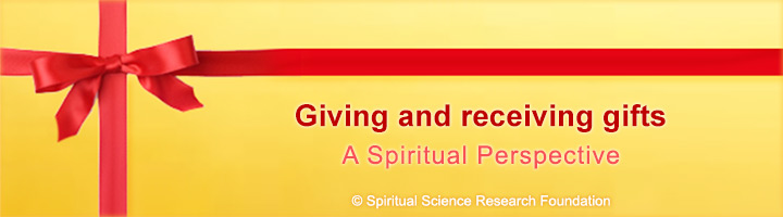 Gift giving and karma