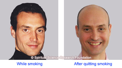 Comparison before smoking and after quitting smoking