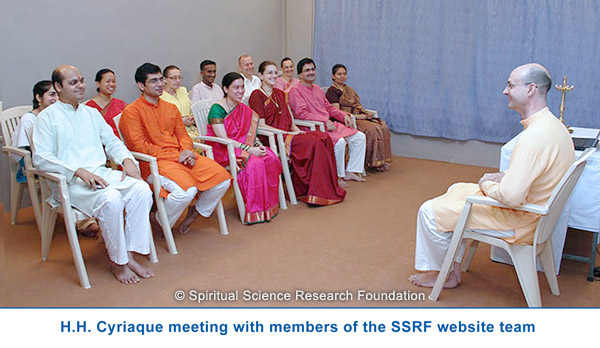 H.H. Cyriaque meeting with members of the SSRF website team